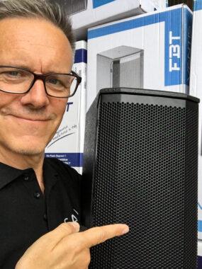 Johan Björk med FBT-högtalare